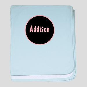 Addison - Pink Circle baby blanket