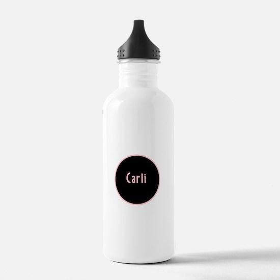 Carli - Pink Circle Water Bottle