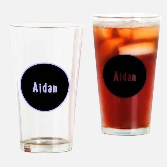 Aidan - Blue Circle Pint Glass