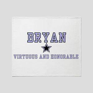 Bryan - Name Team Boy Throw Blanket