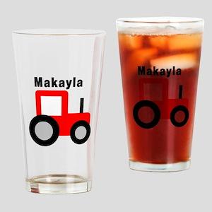 Makayla - Red Tractor Pint Glass