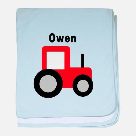 Owen - Red Tractor baby blanket