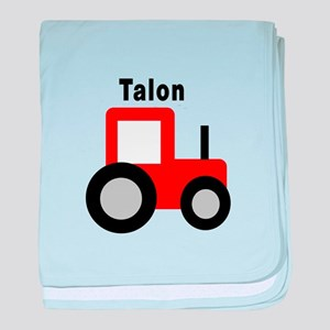 Talon - Red Tractor baby blanket