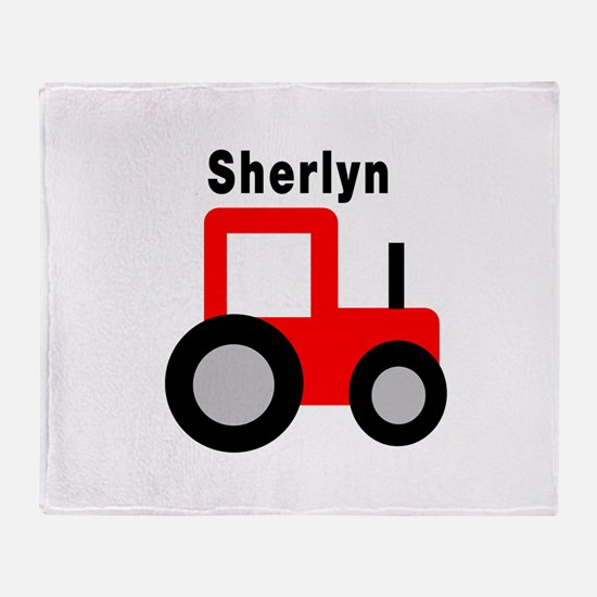 Sherlyn - Red Tractor Throw Blanket