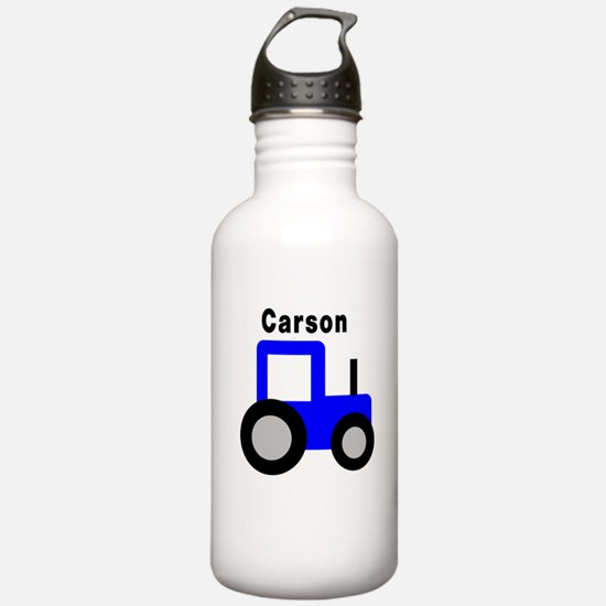 Carson - Blue Tractor Water Bottle