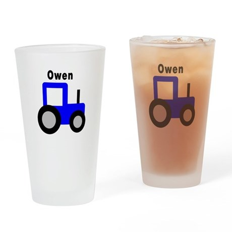 Owen - Blue Tractor Personali Pint Glass