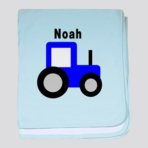 Noah - Blue Tractor Personali baby blanket