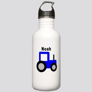 Noah - Blue Tractor Personali Stainless Water Bott