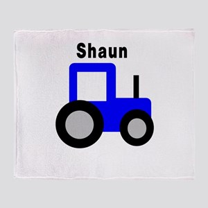 Shaun - Blue Tractor Throw Blanket