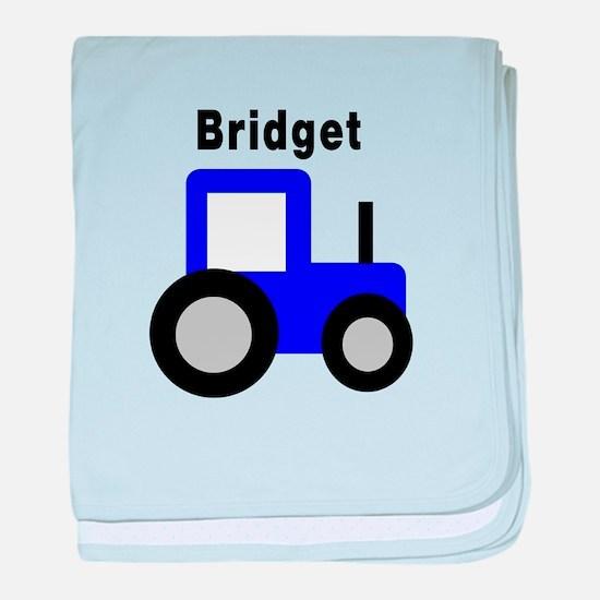 Bridget - Blue Tractor baby blanket