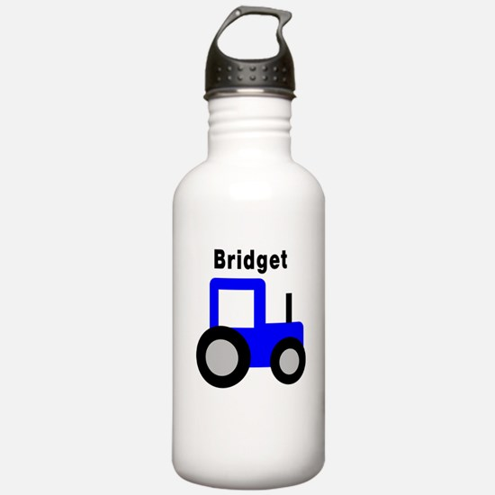 Bridget - Blue Tractor Water Bottle