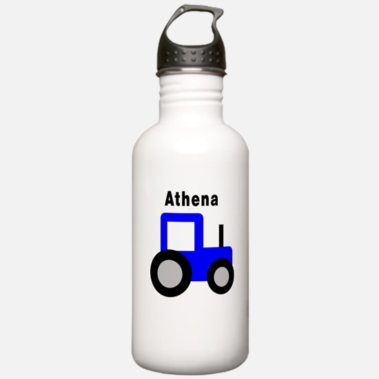 Athena - Blue Tractor Water Bottle