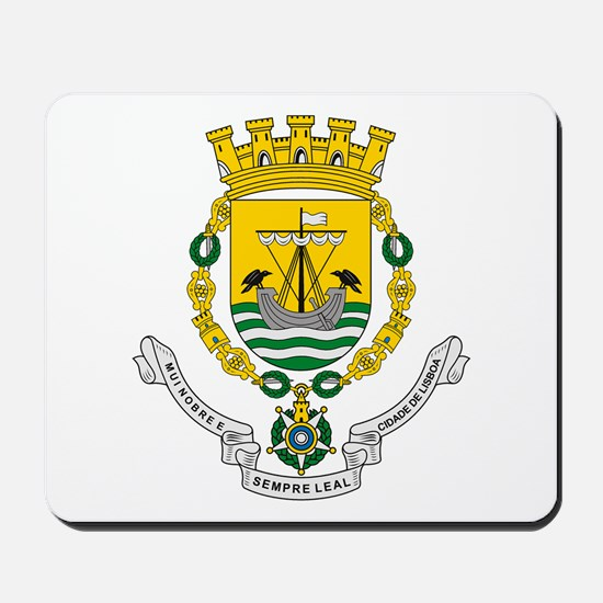 Lisbon Coat of Arms Mousepad