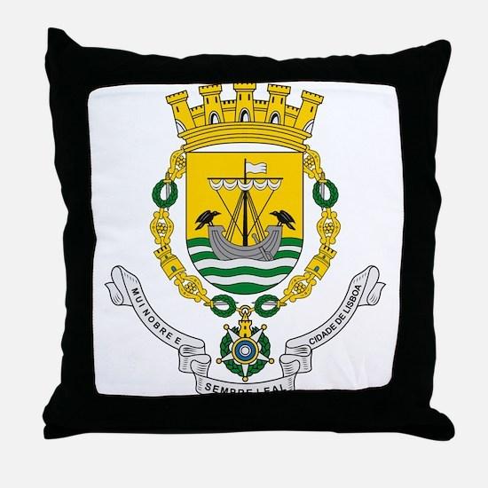 Lisbon Coat of Arms Throw Pillow