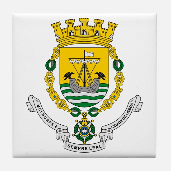 Lisbon Coat of Arms Tile Coaster