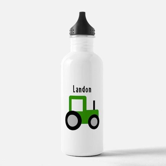 Landon - Green Tractor Water Bottle