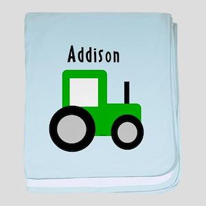 Addison - Tractor baby blanket