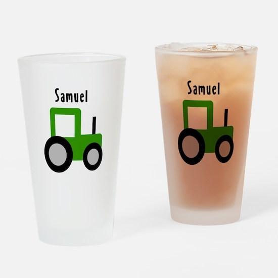 Samuel - Green Tractor Pint Glass