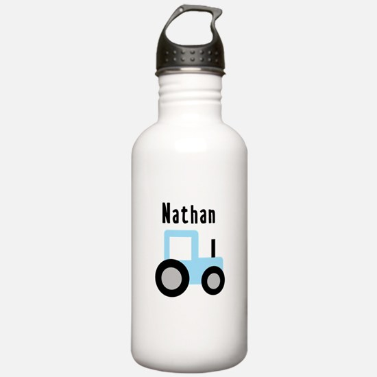 Nathan - Baby Blue Tractor Water Bottle