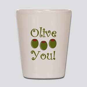 Ollive You Shot Glass