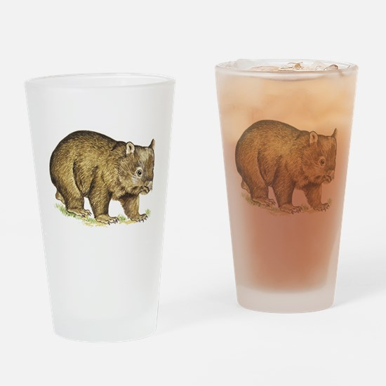 Wombat drawing Drinking Glass