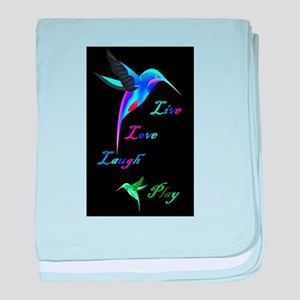 Hummingbird Live Love Laugh P baby blanket