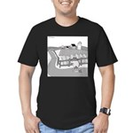 Fish Out of Water (no text) Men's Fitted T-Shirt (