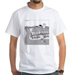 Fish Out of Water (no text) White T-Shirt