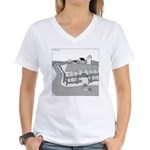 Fish Out of Water (no text) Women's V-Neck T-Shirt