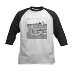 Fish Out of Water (no text) Kids Baseball Jersey