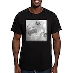 In Kansas Now (no text) Men's Fitted T-Shirt (dark