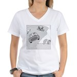 In Kansas Now (no text) Women's V-Neck T-Shirt