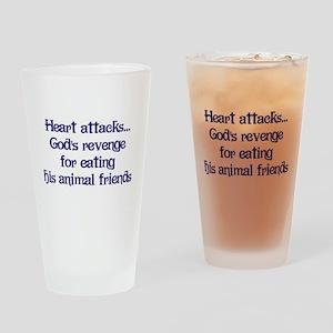 Heart Attacks Pint Glass