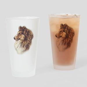 Vintage Sable Collie Pint Glass
