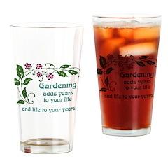 Gardening adds Years Pint Glass