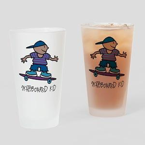 Skateboard Kid Pint Glass