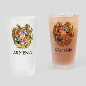 Armenian Coat of Arms Pint Glass