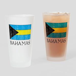 Bahamas Flag Pint Glass