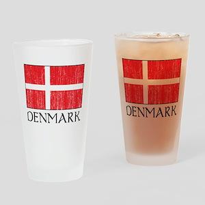 Denmark Flag Pint Glass