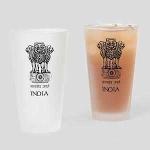 Emblem of India Pint Glass