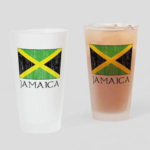 Jamaica Flag Pint Glass