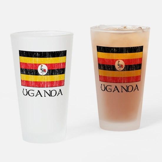 Uganda Flag Pint Glass