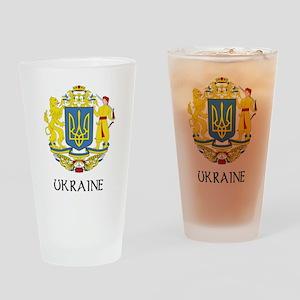 Ukraine Coat of Arms Pint Glass