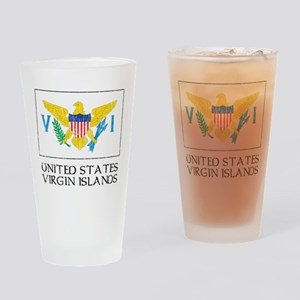 US Virgin Islands Flag Pint Glass