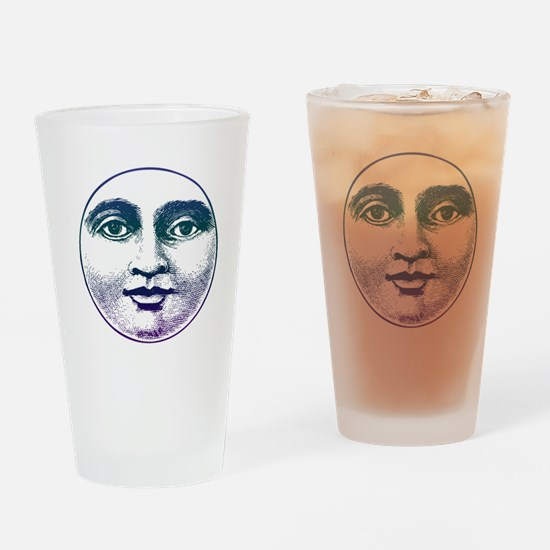Man in the Moon Pint Glass