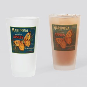 Mariposa Butterfly Fruit Crat Pint Glass