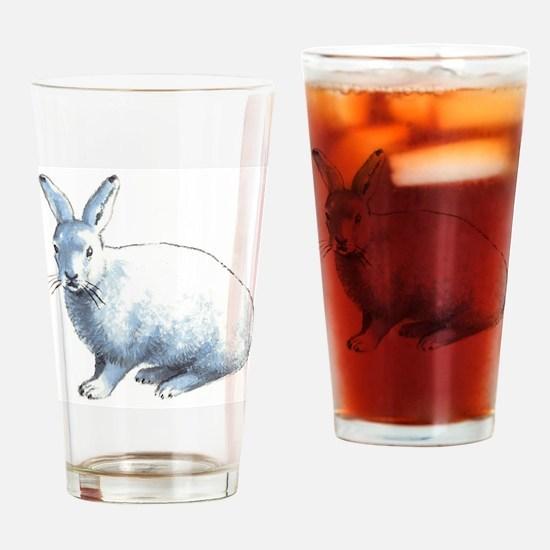 Arctic Snow Hare Drinking Glass