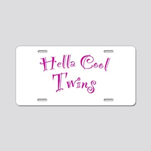 Hella Cool Twins Aluminum License Plate