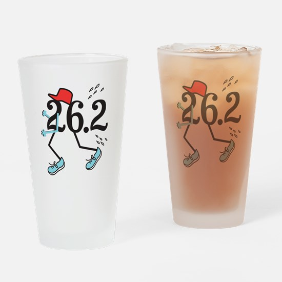 Funny Marathoner 26.2 Drinking Glass