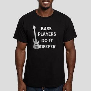 DO IT DEEPER Men's Fitted T-Shirt (dark)